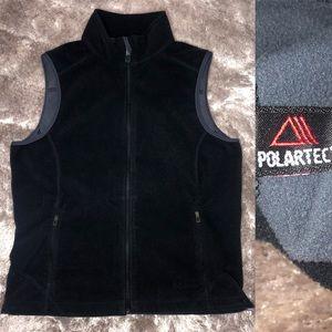 L.L Bean Women's POLARTEC Fleece Black Vest Jacket